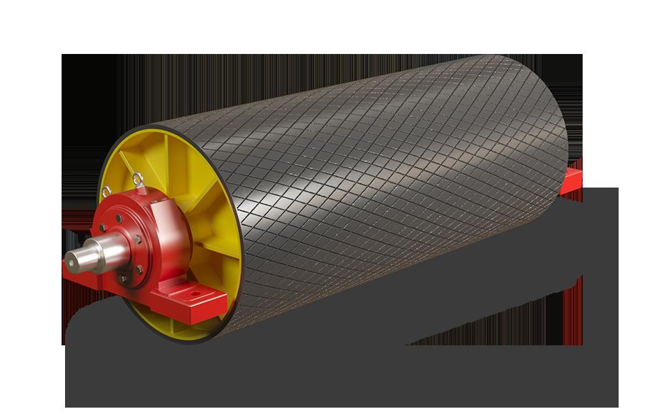 Прижимной барабан на конвейере транспортер дозатор ленточный