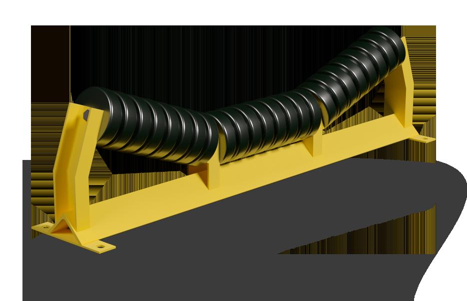 Центрирующая роликоопора ленточных конвейеров какова скорость транспортера если за 5 с